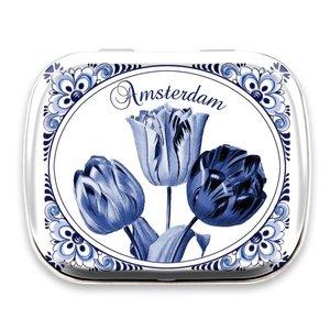Typisch Hollands Minzdose Delfter Blau - Amsterdam