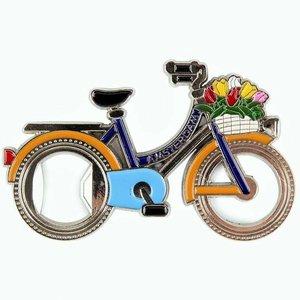 Typisch Hollands Öffner Fahrrad Amsterdam blau