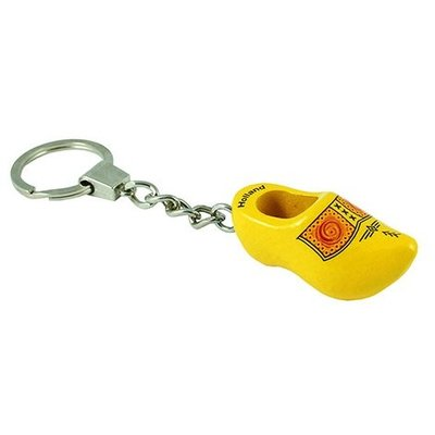 Typisch Hollands Keychains 1 clog yellow farmer-piping
