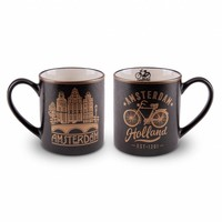 Typisch Hollands Gift set - 2 mugs Amsterdam - Gold