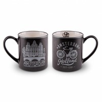 Typisch Hollands Gift set - 2 mugs Amsterdam - Silver