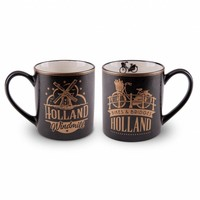 Typisch Hollands Geschenkset - 2 mokken Holland - Goud
