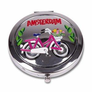 Typisch Hollands Spiegeldoosje - Fiets - Amsterdam