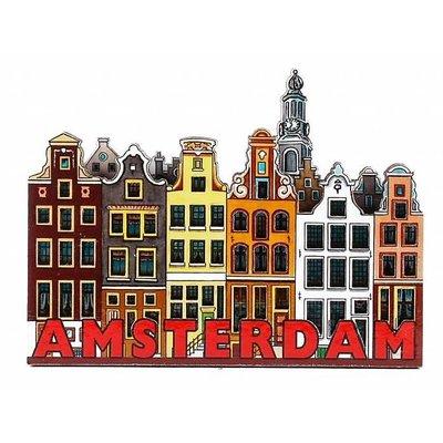 Typisch Hollands Magnet 2D MDF canal Amsterdam