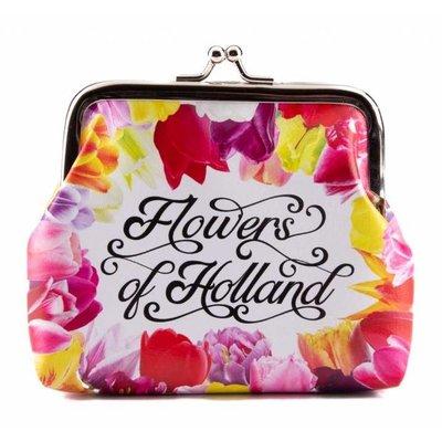 Typisch Hollands Knip-Portemonnee Flowers of Holland