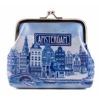 Typisch Hollands Cut-out purse Delftsblauw - Amsterdam