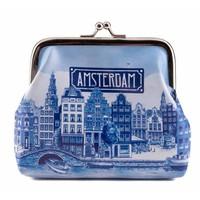 Typisch Hollands Geldbörse Delftsblauw - Amsterdam