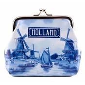 Typisch Hollands Knip-portemonnee  Holland Delftsblauw