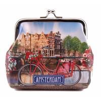 Typisch Hollands Knip-portemonnee Fiets op Brug - Amsterdam