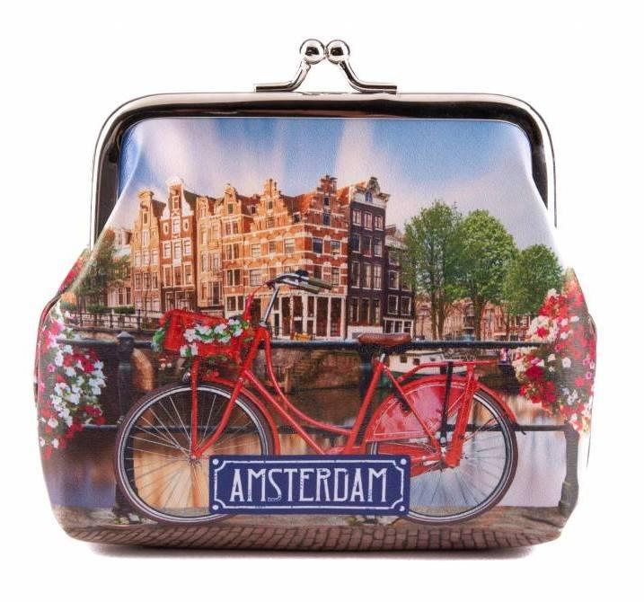 Knip Portemonnee Kopen.Amsterdam Souvenirshop Online Portemonnee Fiets Op Brug Kopen