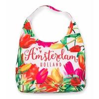 Typisch Hollands Schoudertas - Amsterdam Holland - Tulpen