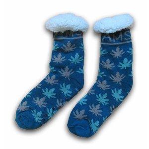 Typisch Hollands Fleece - Comfortsokken - Cannabis - Jeansblauw