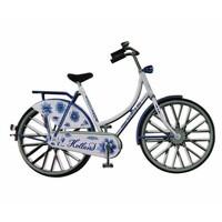 Typisch Hollands Magnet metal bicycle Delft blue Holland