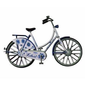 Typisch Hollands Magneet metaal fiets Delftsblauw Holland