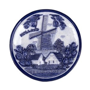 Typisch Hollands Plate 15 cm delft blue Holland windmill and tulips