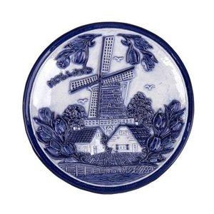 Typisch Hollands Teller 15 cm delft blau Holland Windmühle und Tulpen