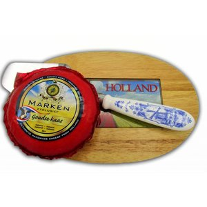www.typisch-hollands-geschenkpakket.nl Cheese palette gift set with cheese and cheese slicer