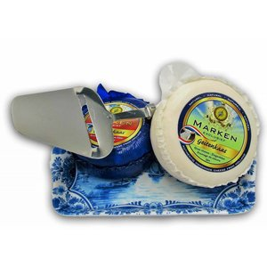 Typisch Hollands Cheese package with slicer and tray - Delftware