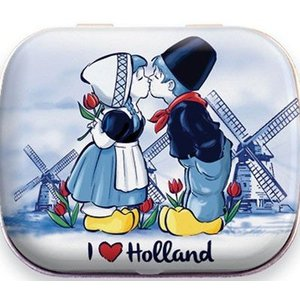 Typisch Hollands Mini Mints tin - Kissing Couple Holland
