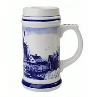Typisch Hollands Bierpul Holland 17cm - Defts blauw