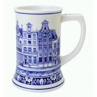 Typisch Hollands Beer mug Canal Houses - 14 cm