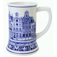 Heinen Delftware Beer mug Canal Houses - 17 cm