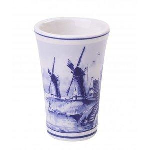 Typisch Hollands Schnapsglas Delfter Blau - Windmühlen