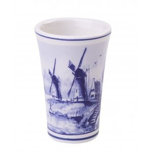 Typisch Hollands Shotglaasje Delfts blauw - molens