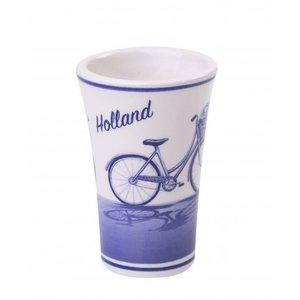 Typisch Hollands Schnapsglas Delftware -Fahrrad