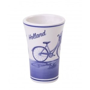 Typisch Hollands Shotglass Delftware -Bicycle