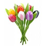 Typisch Hollands Houten Tulpen Mix Boeket