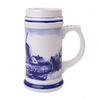 Typisch Hollands Delfts Blauwe Bierpul Extra Groot 30 cm - Holland