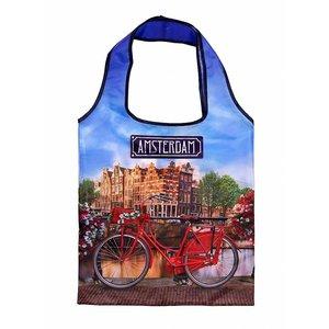 Typisch Hollands Opvouwbaar tasje Amsterdam - Fiets