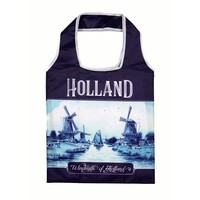 Typisch Hollands Holland Delft blue foldable bag