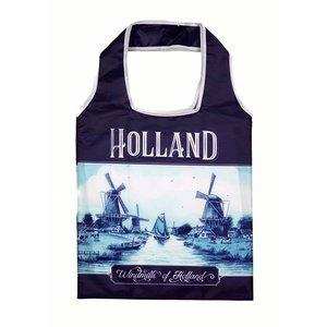 Typisch Hollands Holland Delft blue foldable bag