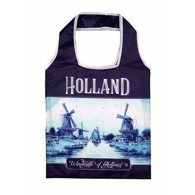 Typisch Hollands Opvouwbaar tasje Holland Delfts blauw