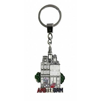 Typisch Hollands Sleutelhanger gevelhuisje Amsterdam