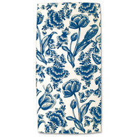 Typisch Hollands Bath towel - Delft blue - Tulips