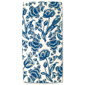 Typisch Hollands Bath towel - Delft blue - Tulips