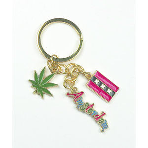 Typisch Hollands Cannabis Items Keyring - Charms - Weed Leaf - Amsterdam