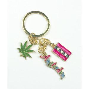 Typisch Hollands Cannabis Items Schlüsselanhänger - Charms - Weed Leaf - Amsterdam