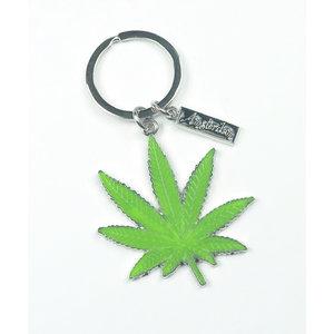 Typisch Hollands Keychain Cannabis leaf - Amsterdam