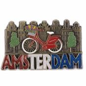 Typisch Hollands  Magneet  Amsterdam glitter brons