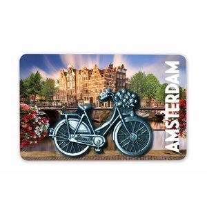 Typisch Hollands Magnet MDF / Metal bicycle Amsterdam