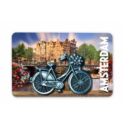 Typisch Hollands Magnet MDF / Metall Fahrrad Amsterdam