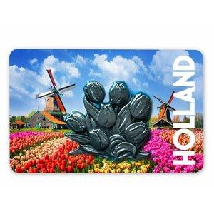 Typisch Hollands Magnet MDF / Metal tulips Holland