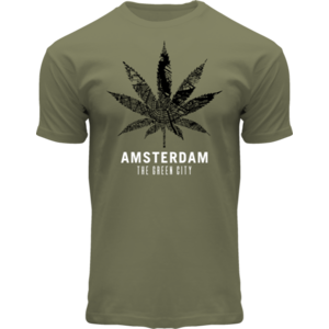 Holland fashion T-shirt mapping cannabis Amsterdam