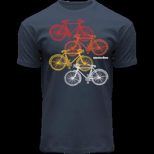Holland fashion T-shirt -Bike Colors Amsterdam