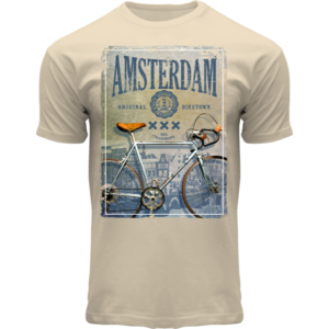 FOX Originals T-shirt - Amsterdam - Bike (off white)