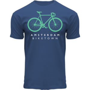 Holland fashion T-shirt -Bike town Amsterdam
